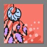 Уникально рогулька с Dreamcatcher на предпосылке Для предохранителя Его можно использовать как открытка иллюстрация штока