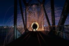 Уникально творческая светлая картина с освещением огня и трубки стоковое изображение rf