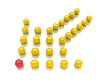 уникально шарика красное Стоковые Фото