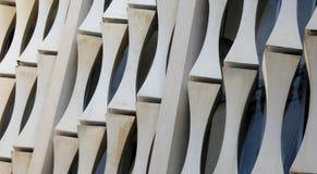 Уникально архитектурноакустические поддержки на снаружи дворца Сайгона независимости Стоковая Фотография