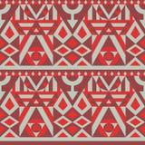 Уникально безшовная геометрическая картина Красный цвет и серый цвет бесплатная иллюстрация