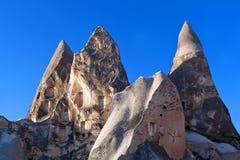 Уникально геологохимические образования в Cappadocia, Турции Стоковая Фотография RF