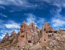 Уникально геологохимические образования в Cappadocia, Турции Стоковое фото RF