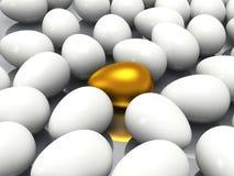 Уникально золотое яичко Стоковое фото RF