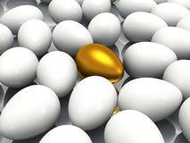 Уникально золотое яичко Стоковое Изображение RF
