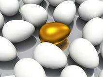 Уникально золотое яичко Стоковые Фотографии RF