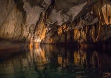 Уникально изображение Puerto Princesa подземно-минное стоковое изображение