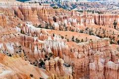 Уникально и красочные горные породы hoodoo в каньоне Bryce Стоковое Фото