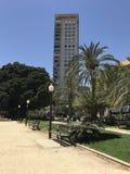 Уникально парк, пляж, лето, плавать в порте Аликанте Стоковые Фото