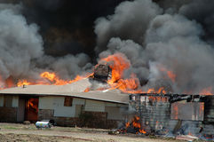 уничтоженная дом пожара Стоковое Изображение RF