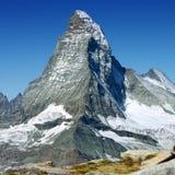дунутая alps гора herens вдавленного места d plume снежок пирамидки зима швейцарца саммита Стоковая Фотография