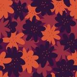 Унылая безшовная картина вектора с темными формами цветка бесплатная иллюстрация