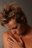 унылая женщина Стоковые Фотографии RF