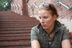 унылая женщина Стоковое фото RF