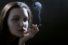 унылая куря женщина Стоковое Изображение RF