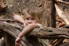 Унылая маленькая девочка стоковые изображения