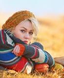 Унылая молодая женщина стоковое фото rf