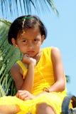 Унылая молодая индийская девушка стоковая фотография rf