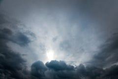 унылое небо стоковая фотография