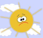 унылое солнце иллюстрация вектора