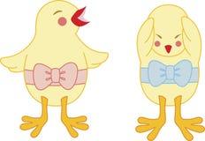 унылое цыпленока счастливое Стоковые Изображения