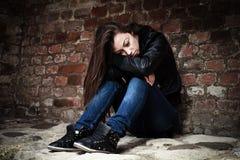 Унылый девочка-подросток Стоковое фото RF