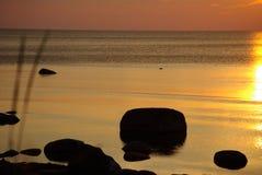 унылый заход солнца Стоковые Изображения