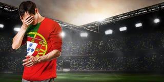 Унылый игрок Португалии стоковое изображение rf