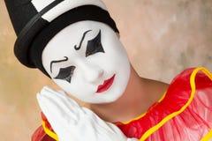Унылый клоун Стоковая Фотография