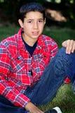 Унылый мальчик твена Стоковые Фото