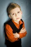 Унылый мальчик Стоковые Фотографии RF