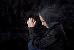 унылый подросток Стоковые Фотографии RF