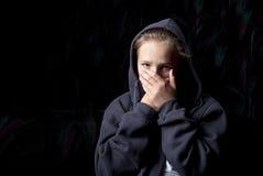 унылый подросток Стоковое Фото