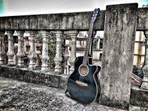 Унылая гитара стоковое изображение
