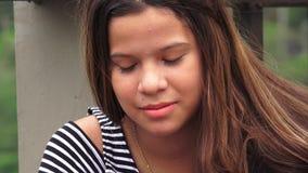 Унылая или подавленная маленькая девочка Стоковые Фотографии RF