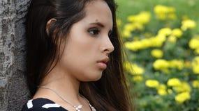 Унылая или confused девушка Стоковое Изображение