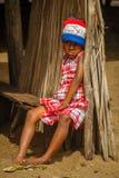 Унылая малагасийская девушка Стоковая Фотография