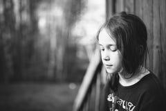 Унылая маленькая девочка Стоковая Фотография