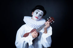 Унылая пантомима Pierrot стоковые изображения rf