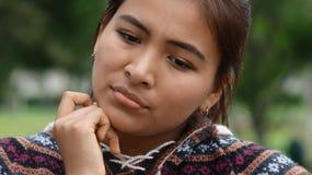 Унылая перуанская предназначенная для подростков девушка Стоковое фото RF