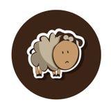 Унылая сиротливая маленькая овечка Стоковые Фото