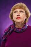 Унылая старшая женщина Стоковое Изображение RF