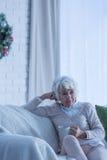 унылая старшая женщина стоковое фото rf