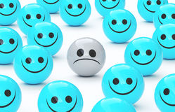 Унылая сторона и счастливые стороны, тоскливость, представляют 3 бесплатная иллюстрация