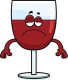 Унылое вино шаржа иллюстрация вектора