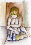 Унылое Мария - девушка подростка бесплатная иллюстрация