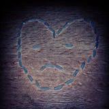 Унылое сердце риса стоковое изображение rf