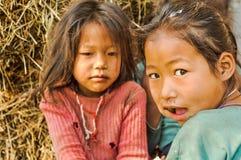 Унылые глаза в Непале Стоковые Изображения