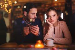Унылые пары имея конфликт Стоковое фото RF
