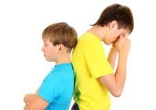 Унылые подросток и ребенк Стоковая Фотография RF